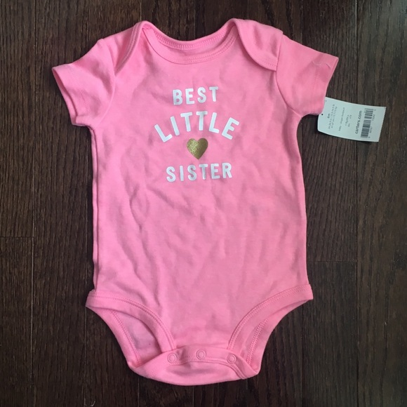 75a0f1b39 Carter's One Pieces | Nwt Carters Little Sister Onesie | Poshmark